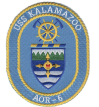"5"" NAVY USS KALAMAZOO AOR-6 EMBROIDERED PATCH - $23.74"