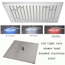 16 Inch Ceiling Mount Square Rainfall LED Shower Head, Stainless Steel (... - $267.25