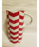 Starbucks 2013 Red & White 8 oz Chevron Coffee Tea Latte Cup Mug - $19.79