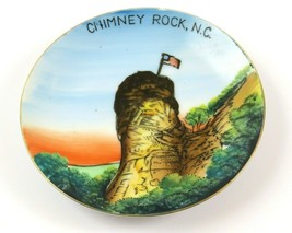 """Vintage Hand Painted Souvenir Chimney Rock NC Wall Plate, About 5"""", GNCO... - $11.87"""