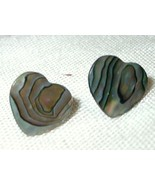 j78 Mini Heart Shaped Abalone Paua Shell Pierced Stud Post Earrings - $1.98