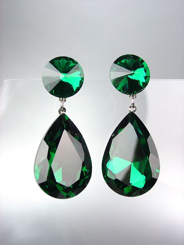 d7989e3f8 GLITZY SHIMMER Emerald Green Swarovski and 50 similar items. La229em