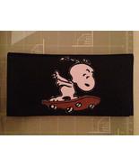 Snoopy skateboarding Leather Checkbook Cover - $20.00