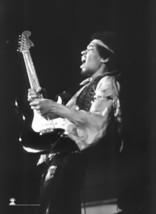 Jimi Hendrix Poster Flag BW Guitar Photo Tapest... - $17.99