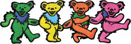 Grateful Dead Iron-On Patch Dancing Bears Strip... - $8.69