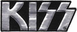 Kiss Iron-On Patch Silver Letters Logo New - $8.69