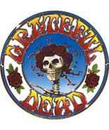 Grateful Dead Vinyl Sticker Round Bertha Rose Logo New - $7.52
