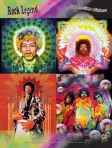 Jimi Hendrix Sticker Set 4 Stickers New - $7.52