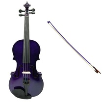 1/10 Size Acoustic Purple Violin with Purple Bow,Case + Free Rosin - $36.00