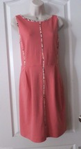 Apt. 9® Ponte Sleeveless Sheath Dress - Coral  Women's Sz M  NWT MSRP$60... - $28.00