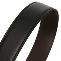 Tommy Hilfiger Men's Set Reversible Leather Belt Removable Buckle 11TL08X012 image 8