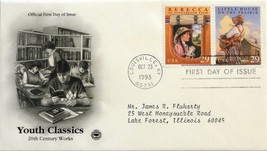 Oct. 23, 1993 First Day of Issue, PC Society Cover, Classics-Rebecca/Lit... - $2.74