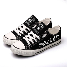 Brooklyn Nets NBA Basket Ball Team Limited Edition Canvas Shoes Sneakers - $59.99