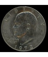 1972 Eisenhower Dollar  Type 1 (Low Relief) CIRCULATED - $6.50
