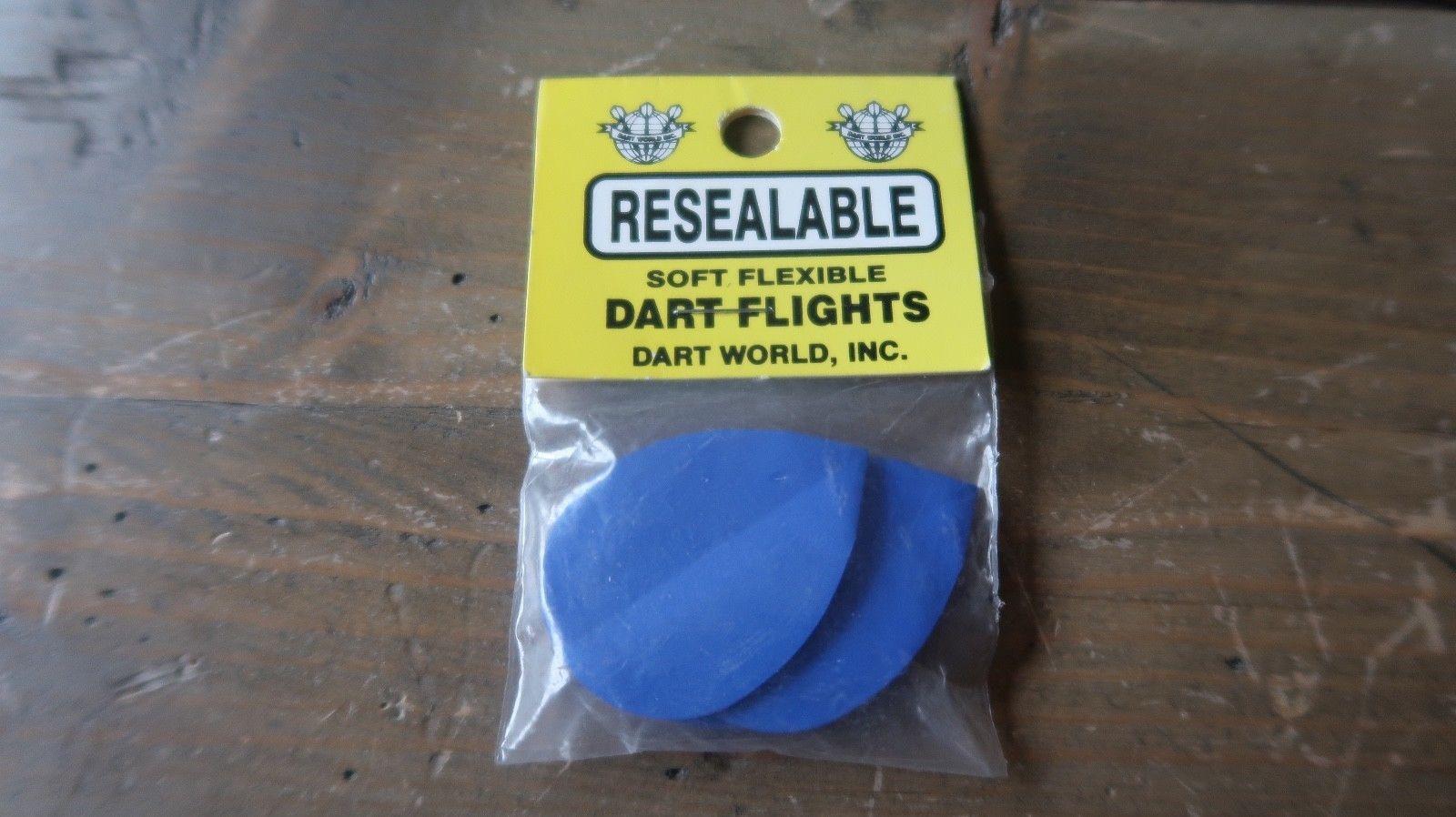 3 NEW Vintage Dart Flights Blue