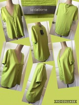 NEW! Liz Claiborne Short Sleeve Sweater Sz Large Lime Green Retail $59 N... - $12.86