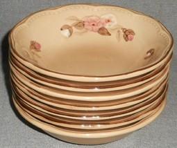 Set (7) Franciscan Embossed ROSETTE PATTERN Soup/Cereal Bowls - $55.43