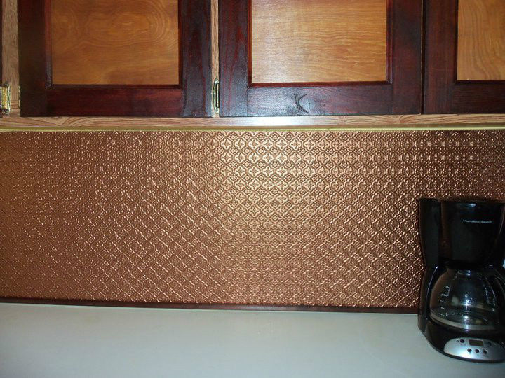 Copper Wall Covering : Copper kitchen backsplash or wall covering other