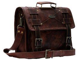 Handmade_World Men's Leather Messenger Bag Laptop Computer Handmade Bag image 5