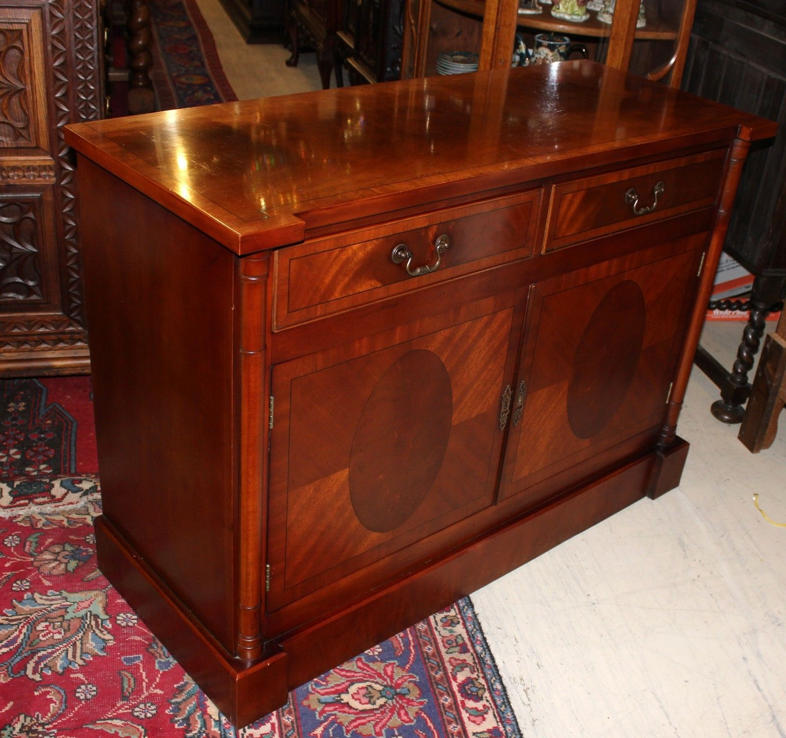 English antique mahogany sideboard buffet credenza for 1950 s credenza