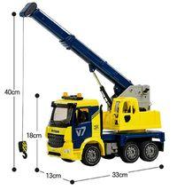Yoowon Toys Crane Truck Car Vehicle Sound Effect Lights Heavy Equipment Play Toy image 4