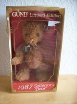 1987 Gund Limited Edition Collector's Bear  - $40.00