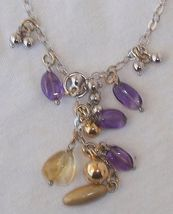 Purple and gold necklace. - $75.00