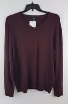 Alfani Men's V-Neck Heathered Long-Sleeve Sweater Red Velvet Heather XL - $13.99