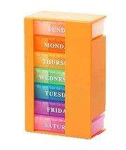 Small Drug Box Pill Box Pills Storage 7 Days Pill Box Drug Dispenser Orange - $23.48