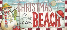 Performing Arts Long card, Glitter Embellishment Christmas at the Beach ... - $20.15