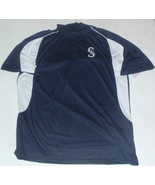 New NWT Seattle Mariners Logo Navy Official Majestic MLB Size 2XT Polo S... - $25.21
