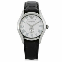 Emporio Armani AR0675 Exclusive Edition Black Leather Band Men's Watch - £84.41 GBP