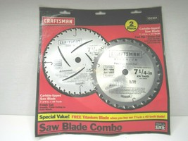 """Craftsman Carbide Tipped Saw Blades 7 1/4"""" Finish Cutting Wood Portable Saws NEW - $27.71"""