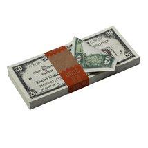 PROP MOVIE MONEY - Series 1920s Vintage $20 Full Print Prop Money Stack - $14.00+