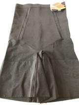 New Spanx Sculpt High Waisted Mid - Thigh Short Very Black SZ L $72 - $63.04