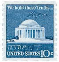 1973 10c Jefferson Memorial, We hold these Truths, Coil Scott 1520 Mint ... - $0.99