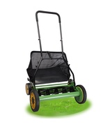 "20"" Height Adjustable Classic Hand Push Lawn Mower Reel Grass Catcher  - $89.79"