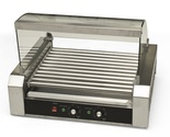 Hot Dog Roller 30 Dogs Grill Cooker W/ Glass Hood Commercial Machine Vending