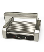 Hot Dog Roller 30 Dogs Grill Cooker W/ Glass Hood Commercial Machine Ven... - $172.99
