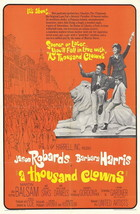 A Thousand Clowns Movie Poster 27x40 In Jason Robards Barbara Harris Nick - $34.99