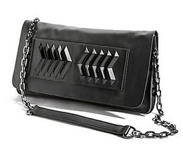 NEW $248 MARCIANO GUESS ELIN KLING Clutch Lamb Leather Purse Embellished... - $116.10