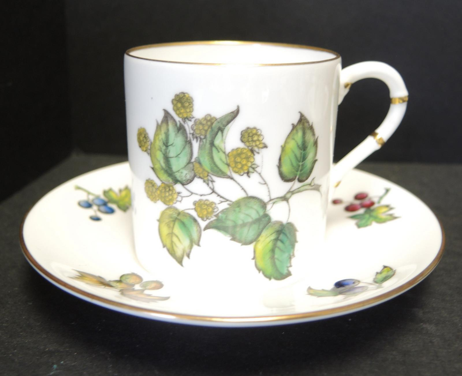 14 Royal Worcester Fruit Berries Demitasse Cups & Saucers #Z2623 Pattern