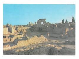 Tunisia Sunset at the Ruins of Carthage Vintage 4X6 Reguioi Postcard - $4.99