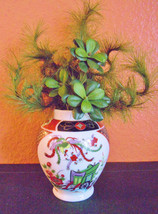 Imari vase with artificial plant - $38.70