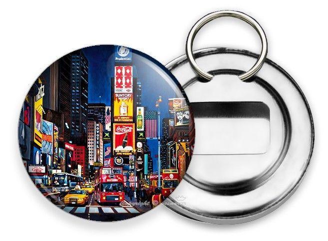 NEW MANHATTAN NEW YORK CITY THAT NEVER SLEEPS TIMES SQUARE SQ SODA BOTTLE OPENER - $11.62
