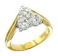Pam pyramid cz ring  54306