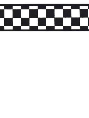 NASCAR Like Black & White Check Wallpaper Border