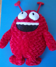 """30"""" Curly Soft Plush Red SMILEY DEVIL  w/HEART HORNS & BUG EYES  - $3.96"""