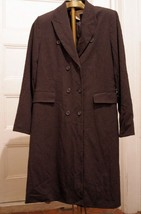 APOSTROPHE Sz 12 L Coat Gray Double Breasted Lined Womens Large - $15.65