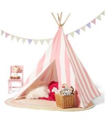 Pink White Stars Teepee Tent Home Living Indoors Toys Pretend Play Child... - $126.69